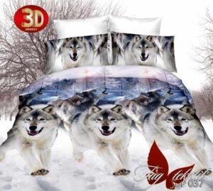 постельное бельё с волками