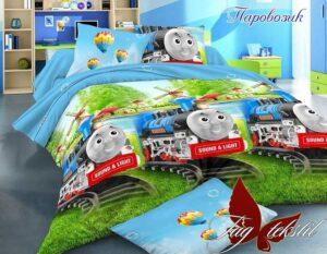 постельное с паровозиком
