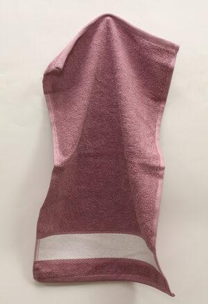 Полотенце 30х50 Сиреневое с полосой