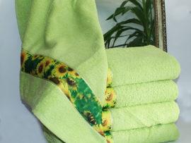 Полотенце махровое Весна зеленое 70х140