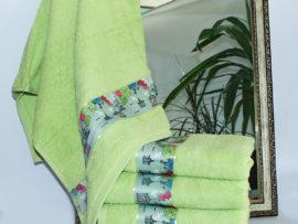 Полотенце махровое Весна зелен. фонарик  50х90
