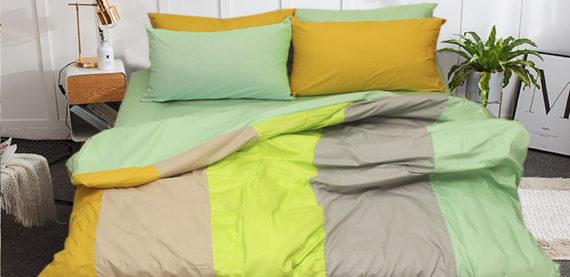 Новая коллекция постельного белья Евро Color Mix сатин.