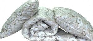 "Одеяло лебяжий пух ""Цветы"" 1.5-сп. + 2 подушки 70х70"