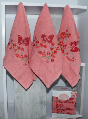 Набор полотенец Lovely персик. (3 шт)