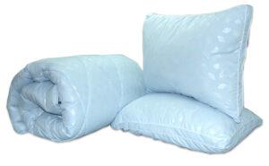 "Одеяло лебяжий пух ""Голубое"" 2-сп. + 2 подушки 70х70"