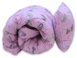 "Одеяло лебяжий пух ""Girls"" 1.5-сп. + 1 подушка 40х60"