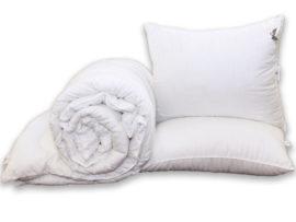 """Одеяло """"Eco-страйп"""" 1.5-сп. + 2 подушки 70х70"""
