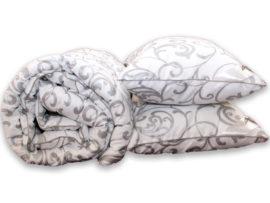 """Одеяло лебяжий пух """"Venzel"""" евро + 2 подушки 50х70"""
