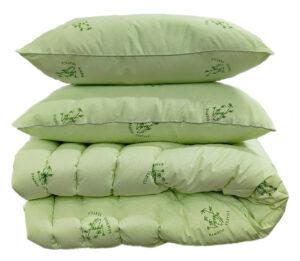 "Одеяло лебяжий пух ""Bamboo"" евро + 2 подушки 50х70"