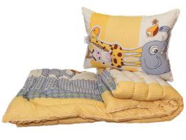 Одеяло лебяжий пух Жираф 1.5-сп. + 1 подушка 50х70