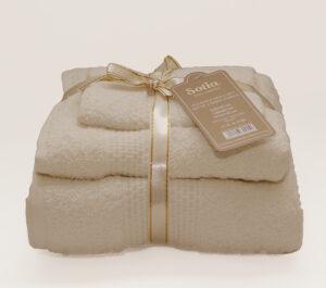 Набор полотенец Sofia цвет: молочный