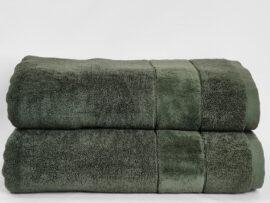 Полотенце 70х140 Velur цвет: оливковый