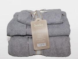 Набор полотенец Sofia цвет: серый
