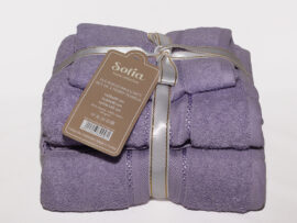 Набор полотенец Sofia цвет: сиреневый