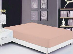 Простынь на резинке (180х200х20) Pale Blush