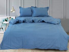 Простынь на резинке (180х200х30) Blue Grey
