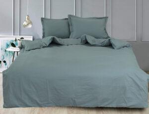 Простынь на резинке (160х200х30) Green Grey
