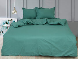 Простынь на резинке (180х200х30) Green