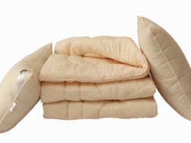 Одеяло лебяжий пух Pudra 1.5-сп. + 2 подушки 70х70