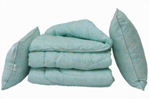 Одеяло лебяжий пух Listok евро + 2 подушки 50х70