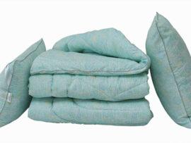 Одеяло лебяжий пух Listok 1.5-сп. + 2 подушки 70х70