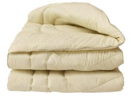 "Одеяло лебяжий пух ""Бежевое"" 1.5-сп."