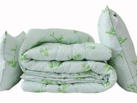 Одеяло лебяжий пух Bamboo white 1.5-сп. + 2 подушки 70х70