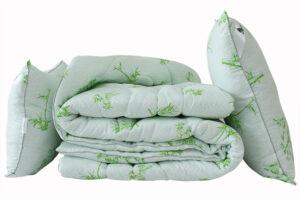 Одеяло лебяжий пух Bamboo white 2-сп. + 2 подушки 70х70