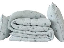 """Одеяло лебяжий пух """"Cotton"""" 2-сп. + 2 подушки 70х70"""