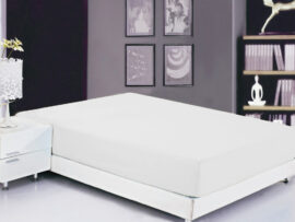 Простынь на резинке (180х200х20) White