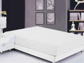 Простынь на резинке (160х200х20) White